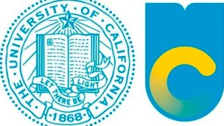 Old and new logos UC