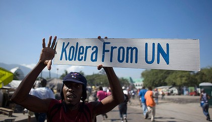 UN Cholera: image Reuters - Allison Shelley