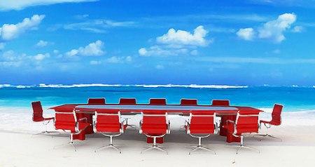 business on the beach