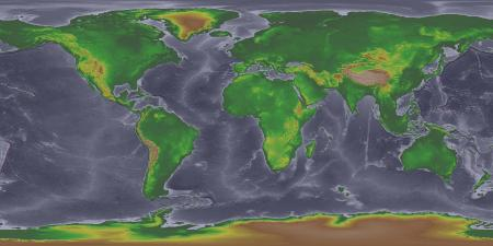 world map ice age image National Geophysical Data Center at NOAA