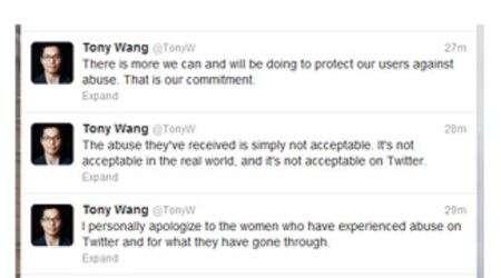 Tony Wang apology (Twitter UK)