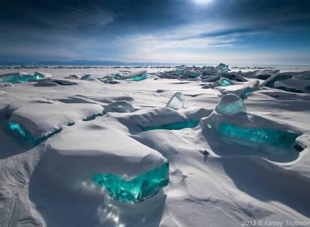 Turquoise Ice Northern Lake Baikal image Alexy Tromifov