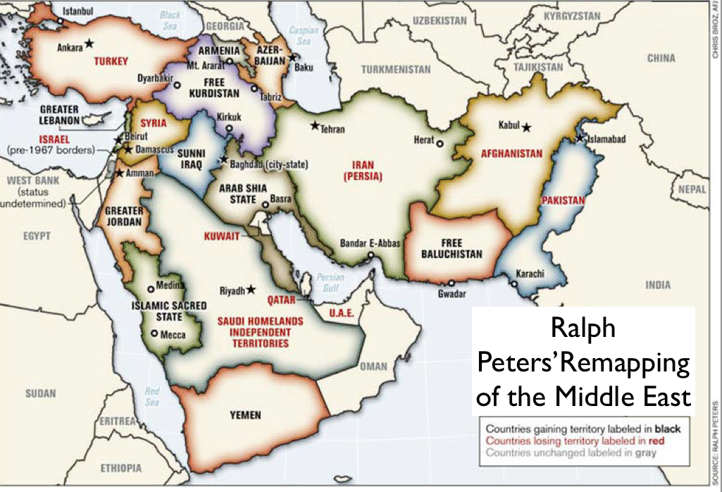 Where iraq goes today afghanistan will go tomorrow the k2p blog ralph peters remapped middle east gumiabroncs Gallery