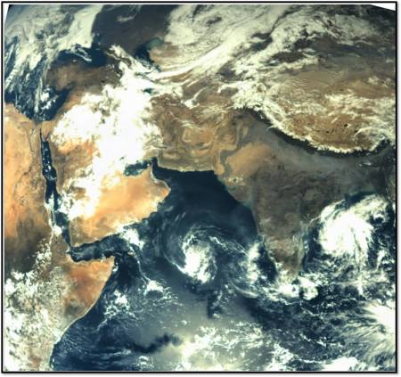 Earth from MOM 20131120 image ISRO
