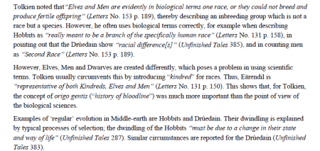 from The biology of Middle eart - Tolkien Encyclopedia