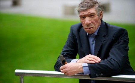 A Neanderthal in our time. (copyright Nenderthal Museum / H Neumann)