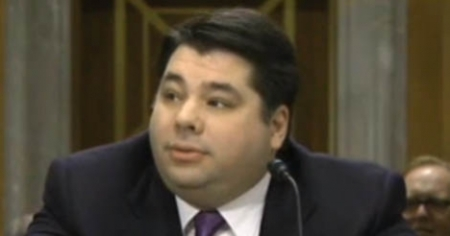 George Tsunis at US Senate in Jnuary 2014 - source screen grab - The Local