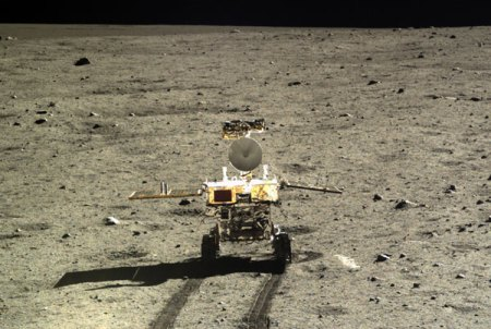 Jade Bunny on the moon on 22nd December 2013 (photo Xinhua)