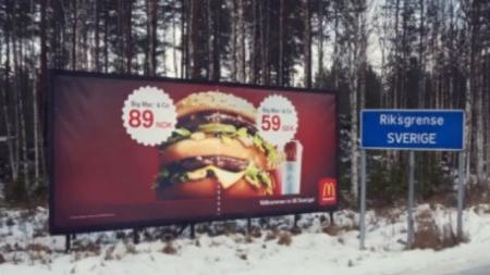 Norway - Sweden Big Mac