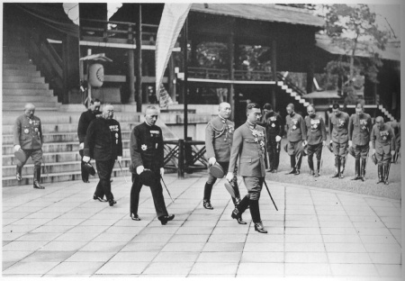Emperor Hirohito at the Yasakuni shrine 1935