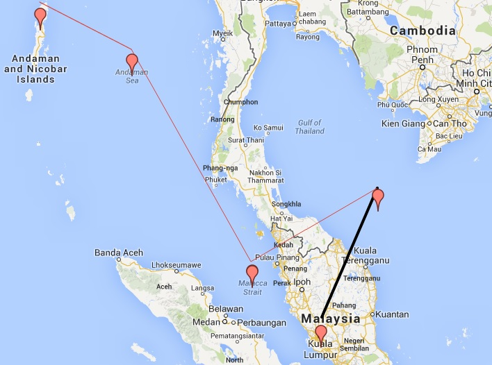 singapore airlines route map with Mh370 The Presumed Diverted Flight Path on Haneda Airport Reviews E2 80 8B E2 80 8B moreover Chennai further Hotel In Charles De Gualle together with Sri Lankan Airline moreover Singapore Airlines First Boeing 787 10 To Serve Osaka.