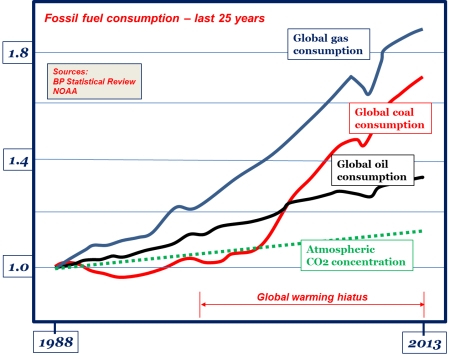 25 years of fossil fuel consumption