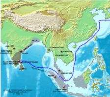 Chola trade under Rajendra Chola c. 1130 Wikimedia