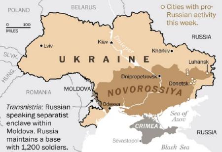 Novorossiya - graphic Washington Post