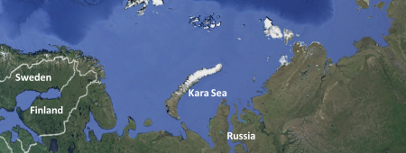 Kara Sea - Arctic  Google maps