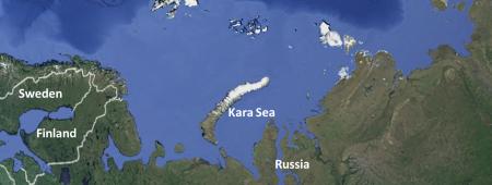 Kara Sea - Arctic  Google maps