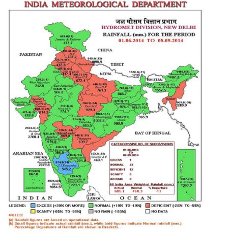 Monsoon status September 8th 2014