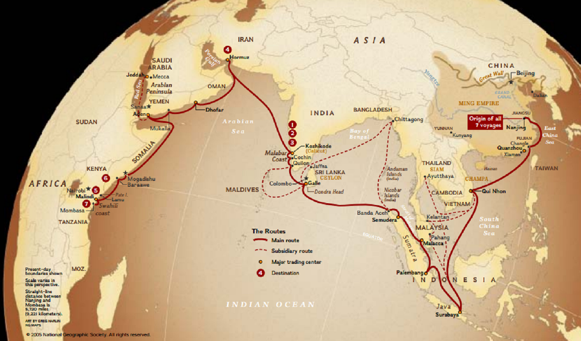 Zheng He Routes On Map on columbus route map, leif ericsson route map, leif ericson route map, marco polo route map, vasco da gama route map, giovanni da verrazzano route map, martin frobisher route map, roald amundsen route map, john cabot route map, ibn battuta route map, silk road route map, desoto route map, eric the red route map, hernan cortes route map, henry hudson route map, leif erikson route map, dias route map, magellan route map, hernando de soto route map, mansa musa route map,