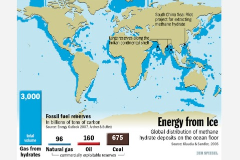 Methane Hydrate Resources per Der-Spiegel