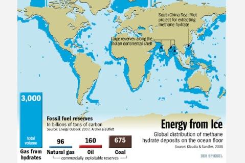 Methane Hydrate Resources per Der-Spiegel