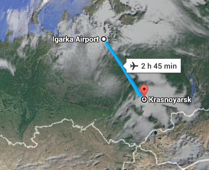 igarska to Krasnoyarsk