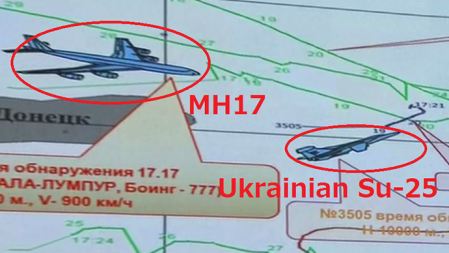 MH17 - Su-25 graphic RT news