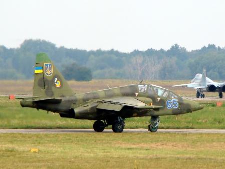 Ukrainian Air Force Su-25UB Wikimedia
