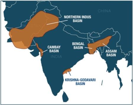 shale gas basins India