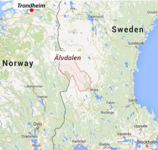 Trondheim to Älvdalen
