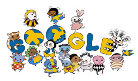 Sweden National Day Google Doodle by Stina Wirsén