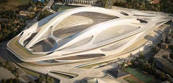hadid Tokyo Olympic stadium  - image Kyodo