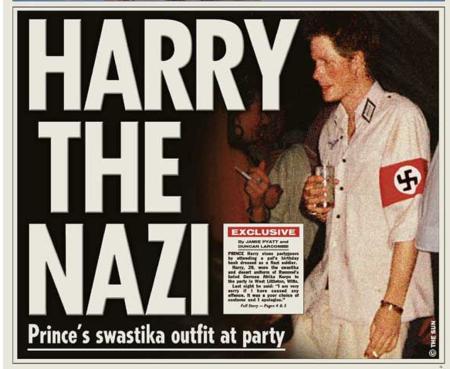Harry Swastika 2005 The Sun