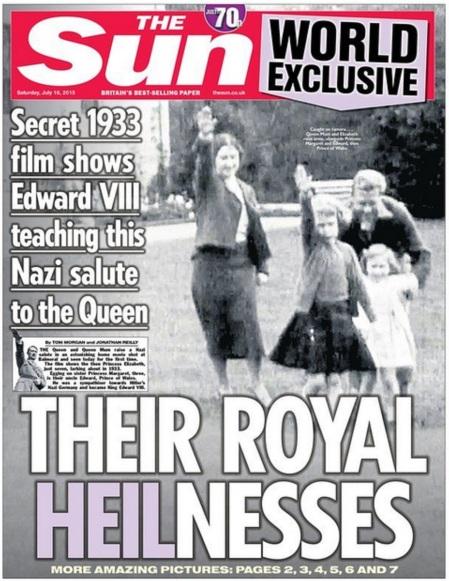 Royals Hitler 1933 The Sun