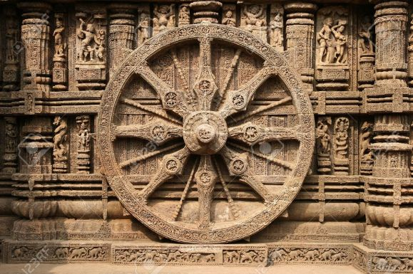 13th century stone chariot wheel - Konark