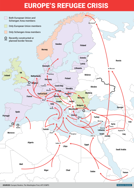 europe's refugee crisis - business insider graphics