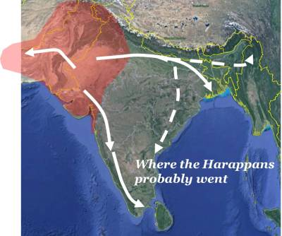 Where the Harappans probably went