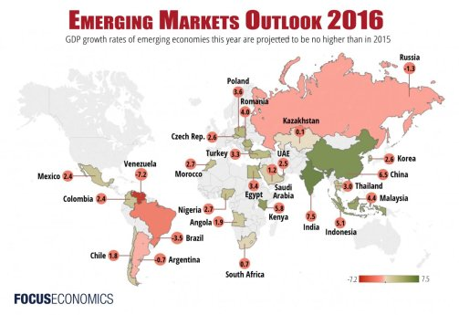 MICKI - Emerging Markets (map by Focus Economics)