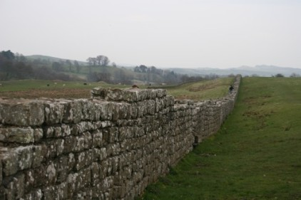 Section of Hadrians wall near Carlisle