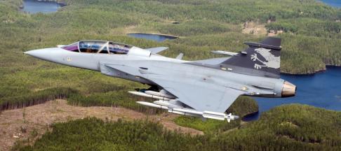 JAS Gripen 39NG test aircraft - image Saab