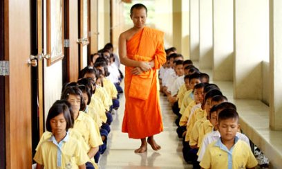 children -buddhist school Thailand image -The Guardian