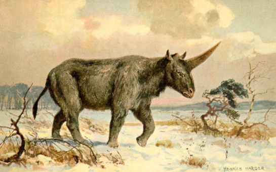 Siberian Unicorn - painting by Heinrich Harder
